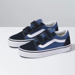 VANS Old Skool V Navy/True White Youth Boys Size 3